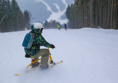 Катание на снегоходах, Буковель