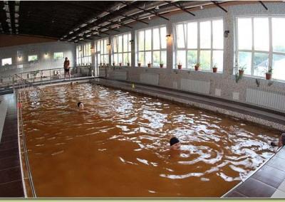 Бассейн с термальной водой в санатории