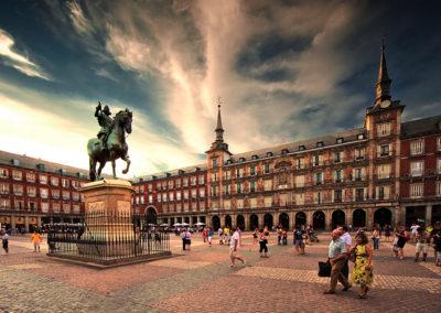 Плаза Майор, Мадрид, Испания.