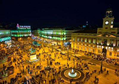 Площадь Дель Соль, Мэрия, Мадрид, Испания.