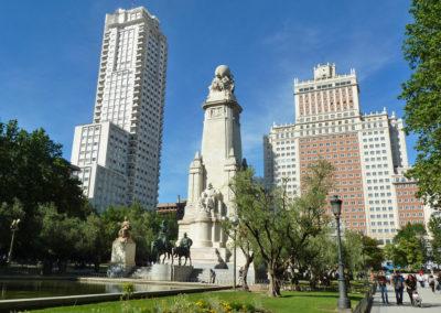 Памятник Сервантесу. Мадрид, Испания