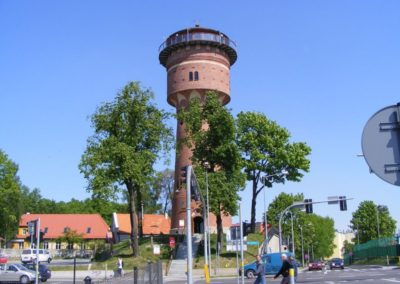 Водонапорная башня-музей в городе Гижицко. Мазуры, Польша.