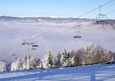 Катание на лыжах в Закарпатье