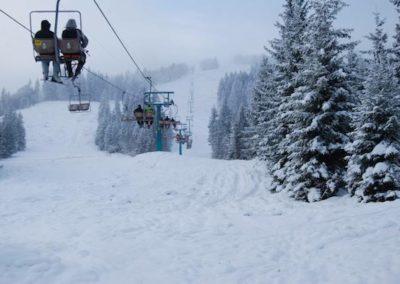 Катание на лыжах на Закарпатье