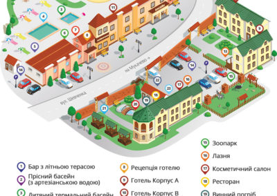 Карта. Комплекс Жайворонок, Берегово